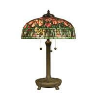 Dale Tiffany Tiffany 3 Light Table Lamp in Antique Verde TT90423 photo thumbnail