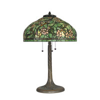Dale Tiffany Tiffany 3 Light Table Lamp in Antique Verde Green TT90424 photo thumbnail