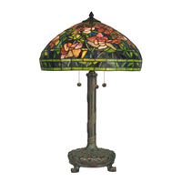 Dale Tiffany Tiffany 3 Light Table Lamp in Dark Antique Bronze TT90425