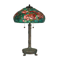 Dale Tiffany Tiffany 3 Light Table Lamp in Antique Verde TT90426