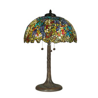 Laburnam Tiffany Replica 29 inch 60 watt Antique Verde Table Lamp Portable Light