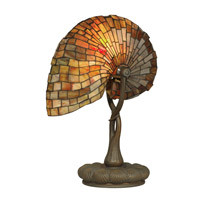 Dale Tiffany Red Nautilus Table Lamp 1 Light in Antique Bronze/Verde TT90434