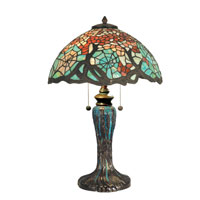 Dale Tiffany Cobweb Tiffany Table Lamp 2 Light in Antique Bronze/Verde TT90510 photo thumbnail
