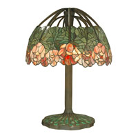 Dale Tiffany Tiffany 6 Light Table Lamp in Dark Antique Bronze TT90513