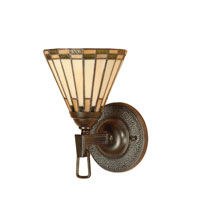 Dale Tiffany Gustav 1 Light Wall Sconce in Mica Bronze TW100733