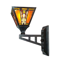 Dale Tiffany Amber Monarch Wall Sconce 1 Light in Mica Bronze TW100853