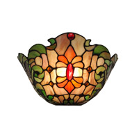 Dale Tiffany Leland Wall Sconce 1 Light in White TW100886