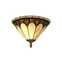 Dale Tiffany Crystal Jeweled Pebblesrone Wall Sconce 1 Light in Antique Bronze Paint TW11154 photo thumbnail