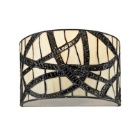 Dale Tiffany Willow 1 Light Wall Sconce in Black TW12423