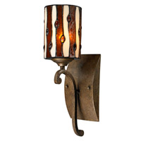 Dale Tiffany Diamond Hill 1 Light Wall Sconce in Antique Golden Bronze TW12442