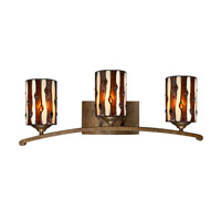 Dale Tiffany Diamond Hill 3 Light Vanity Light in Antique Golden Bronze TW12444