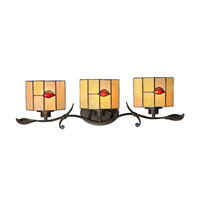Dale Tiffany Fantom 3 Light Vanity Light in Rustic Bronze TW12450