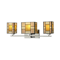Dale Tiffany Trovita 3 Light Vanity Light in Brushed Nickel TW12466