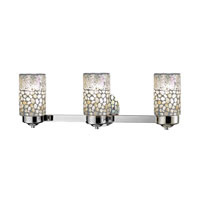 Alps 3 Light 24 inch Brushed Nickel Vanity Light Wall Light