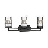 Landis 3 Light 23 inch Matte Coffee Black Vanity Light Wall Light