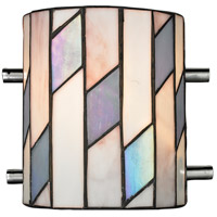 Dale Tiffany Glacier 1 Light Wall Sconce in Chrome TW13015