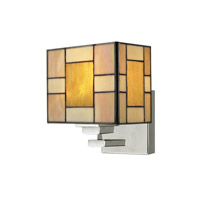 Dale Tiffany Trovita 1 Light Wall Sconce in Brushed Nickel TW13016