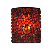 Pebble Stone 1 Light 7 inch Dark Bronze Wall Sconce Wall Light