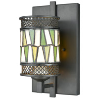 Dale Tiffany TW17019 Rainy Slate 1 Light 7 inch Tiffany Bronze Wall Sconce Wall Light