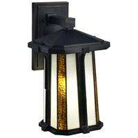 Dale Tiffany TW17030 Fleetwood 1 Light 17 inch Golden Black Outdoor Wall Sconce