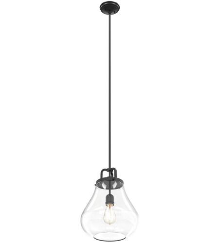 DVI DVP11113GR-CL Coronado 1 Light 12 inch Graphite Pendant Ceiling ...