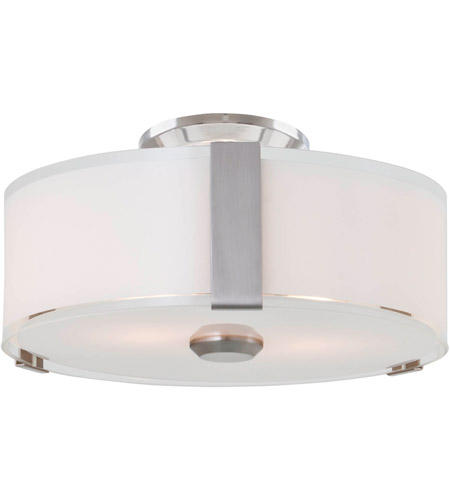 DVI DVP14532SN-SSOP Zurich 3 Light 12 inch Satin Nickel Flush Mount ...