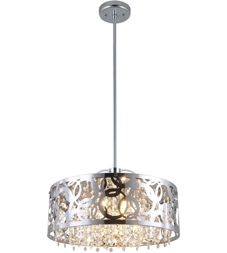 DVI Lighting Woodstock 3 Light Pendant in Chrome with