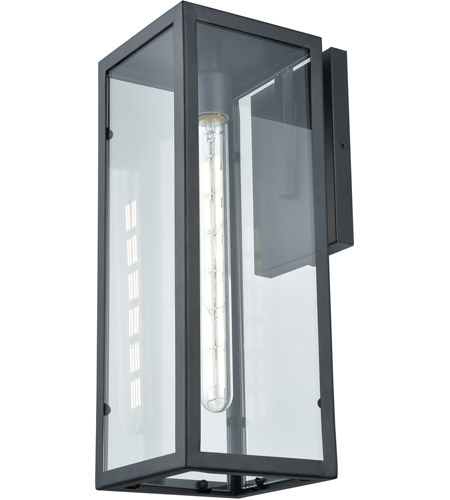DVI DVP15672BK-CL Baker Street Outdoor 1 Light 17 inch Black Outdoor Sconce photo