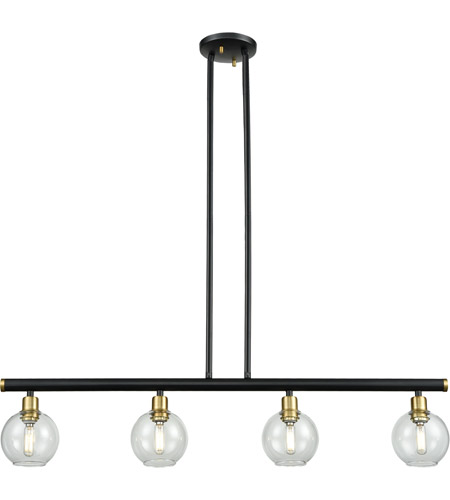 DVI DVP20824VBR/GR-CL Ocean Drive 4 Light 34 inch Venetian Brass and Graphite Linear Pendant Ceiling Light photo thumbnail