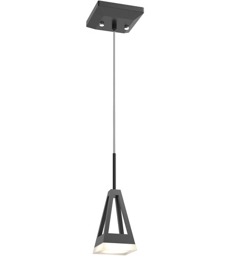 DVI DVP21621GR/CH-OP Aries LED 4 inch Graphite and Chrome Mini Pendant Ceiling Light photo thumbnail