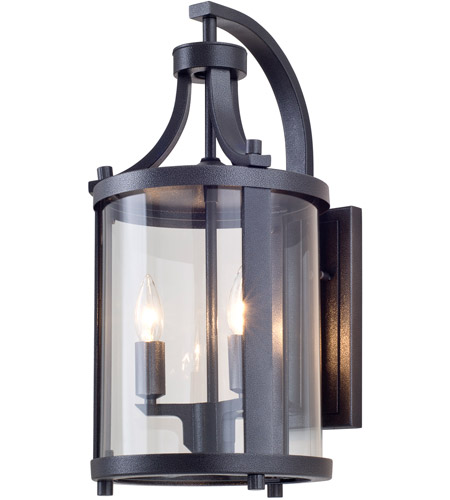Hammered Black Outdoor Wall Lights