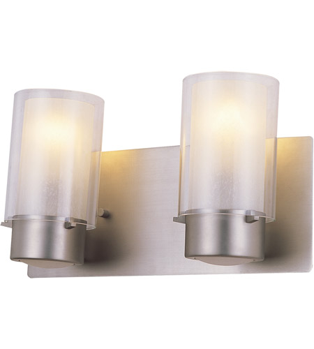 DVI DVP9022BN-OP Essex 2 Light 14 inch Buffed Nickel Vanity Wall Light in Opal Glass photo thumbnail
