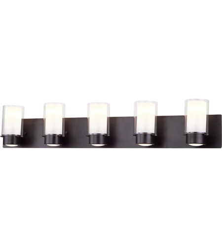 DVI DVP9055ORB-OP Essex 5 Light 42 inch Oil Rubbed Bronze Vanity Wall Light in Opal Glass photo thumbnail