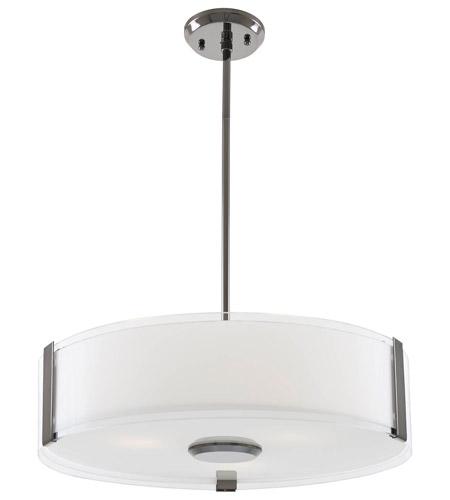DVI Lighting Zurich 3 Light Pendant In Black Chrome With