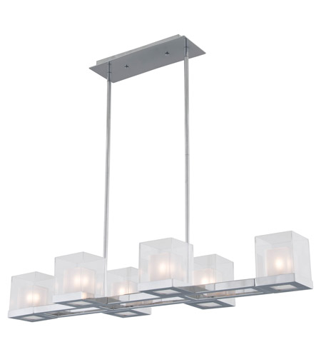 DVI DVP3906CH-OP DVI Lighting Narvik 6 Light Chandelier in Chrome ...