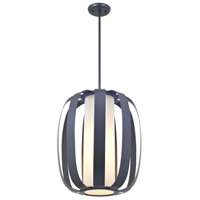 DVI Lighting Juneau 3 Light Foyer Pendant in Graphite with Half Opal Glass DVP0249GR-OP