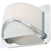 DVI DVP0501CH-OP Solstice 1 Light 8 inch Chrome Wall Sconce Wall Light