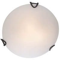 DVI DVP0512GR-OP Solstice 3 Light 16 inch Graphite Flush Mount Ceiling Light