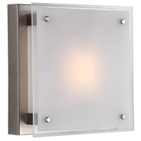 DVI DVP10331BN-SSW Helios 1 Light 10 inch Buffed Nickel Flush Mount Ceiling Light