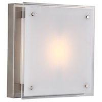 DVI DVP10341BN-SSW Helios 1 Light 12 inch Buffed Nickel Flush Mount Ceiling Light