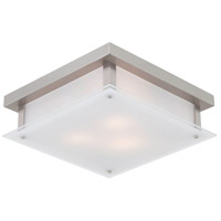 DVI DVP10351BN-SSW Helios 3 Light 14 inch Buffed Nickel Flush Mount Ceiling Light