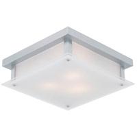 DVI DVP10351CH-SSW Helios 3 Light 14 inch Chrome Flush Mount Ceiling Light