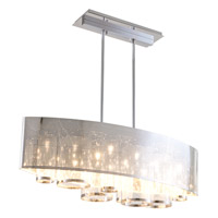 DVI Lighting Dakar 8 Light Linear Pendant in Chrome with Clear Glass DVP10402CH-CL