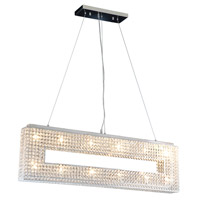 DVI Lighting Helsinki 12 Light Linear Pendant in Chrome with Clear Crystals DVP10701CH-CRY