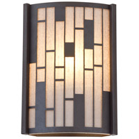 Lisbon 1 Light 9 inch Forged Iron ADA Wall Sconce Wall Light in Oatmeal Fabric Shade
