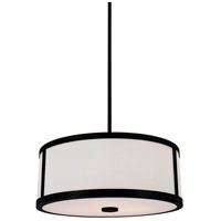 Uptown 3 Light 19 inch Graphite Pendant Ceiling Light