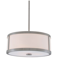 Uptown 3 Light 19 inch Satin Nickel Pendant Ceiling Light