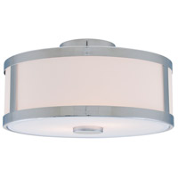 Uptown 3 Light 16 inch Chrome Semi Flush Mount Ceiling Light