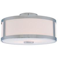 DVI DVP1112CH-OP Uptown 3 Light 16 inch Chrome Semi Flush Mount Ceiling Light