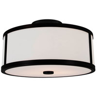 Uptown 3 Light 16 inch Graphite Semi Flush Mount Ceiling Light